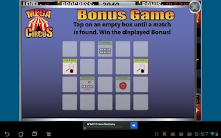 Screenshot of Mega Circus Slot Machine