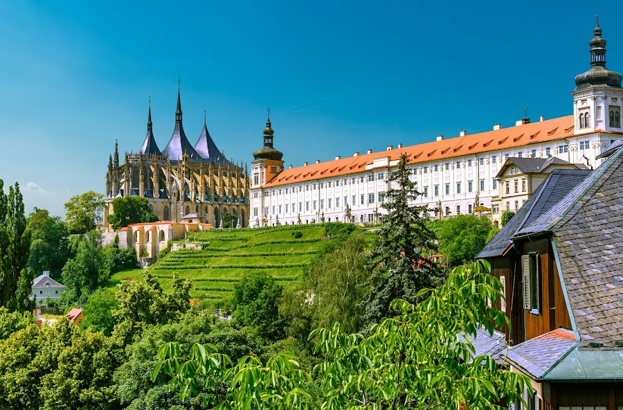 Kutna Hora, Czech Republic by Nick Moulds - Buildings & Architecture Places of Worship ( republic, statue, street, vista, st barbaras, czech, cathedral, view, kutna hora )