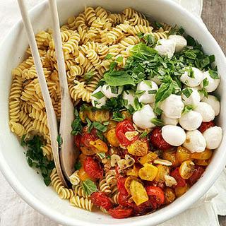 Roasted Tomato Pasta with Mozzarella.