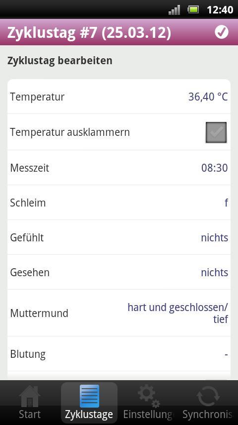 myNFP – Screenshot