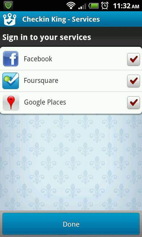 Checkin King for Facebook, 4SQ - screenshot