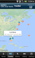 Screenshot of Global Shark Tracker