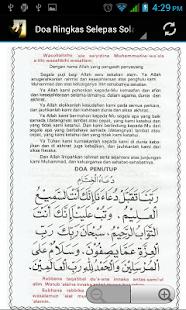 Doa Selepas Solat Fardhu - náhled