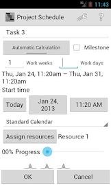 Project Schedule Screenshot 3