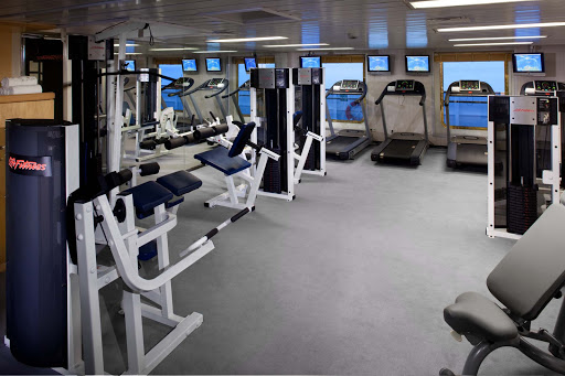Seabourn_Fitness_Center - Fitness centers on each of Seaborn's vessels host high performance Technogym equipment, complimentary classes and personal trainers who can design a fitness and diet plan to help you meet your health and fitness needs.