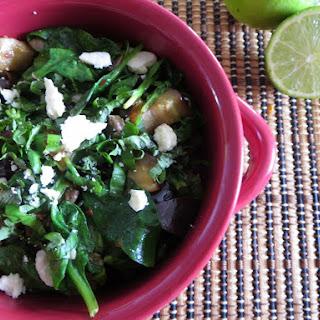 Eggplant, Mushroom, and Spinach Saute Recipe