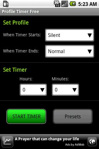 Profile Timer Free - screenshot