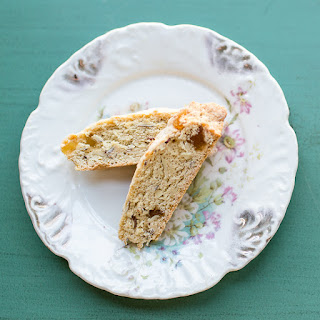 Ginger and Almond Biscotti.