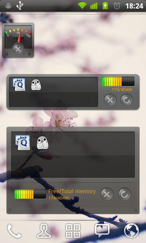 GOWidget Theme - Transparency - screenshot