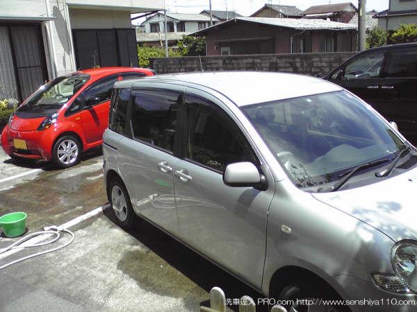 トヨタ シェンタ 03y  静岡県 会員様 洗車達人PRO実践報告