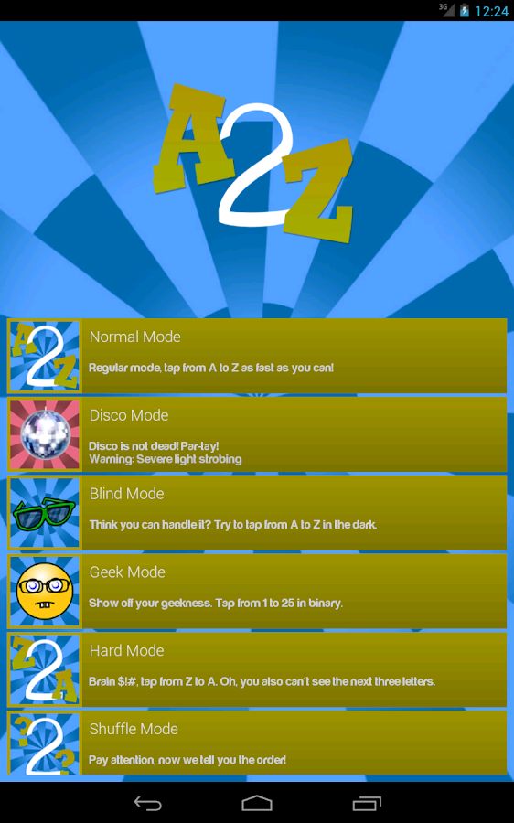 A2Z - Finger Tapping Game- screenshot