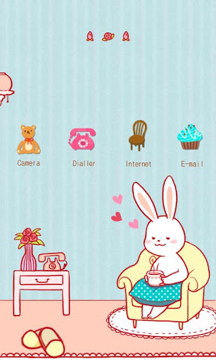 CUKI Theme Cute Rabbit Coffee