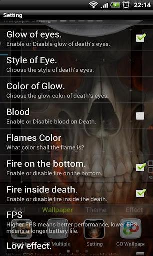 玩個人化App|超酷地狱火骷髅动态壁纸免費|APP試玩
