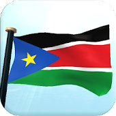 South Sudan Flag 3D Wallpaper