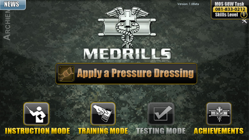 【免費醫療App】Medrills: Army Pressure Dress-APP點子