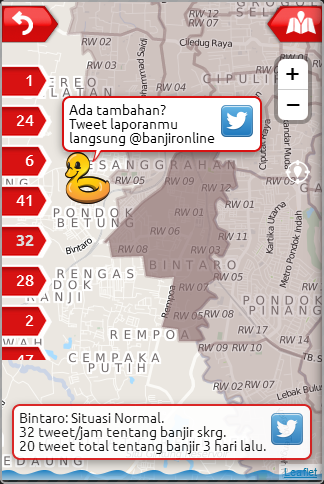 BanjirOnline Tweets- screenshot