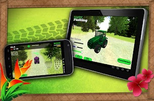 Screenshot of tractor dash repo simulator