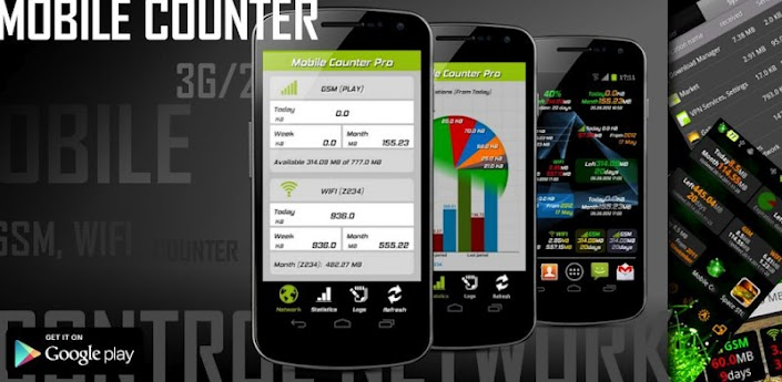 Mobile Counter Pro - 3G, WIFI apk