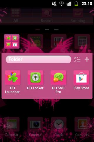 GO Launcher EX Hearts Theme- screenshot