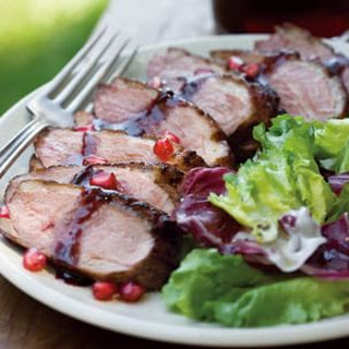 Duck Breast with Pomegranate Glaze.