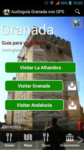 Audioguia Granada con GPS