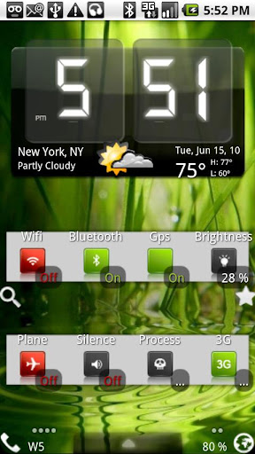Weather & Toggle Widget v7.1.8