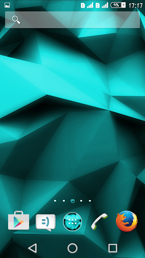 Theme eXPERIAnce Teal Polygons