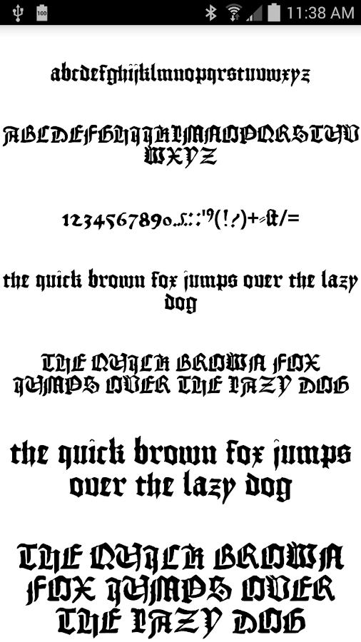 Fonts for flipfont 50 gothic android apps on google play for Fonts for google docs android
