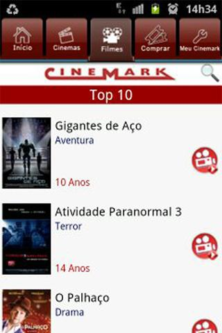 Cinemark Brazil - screenshot