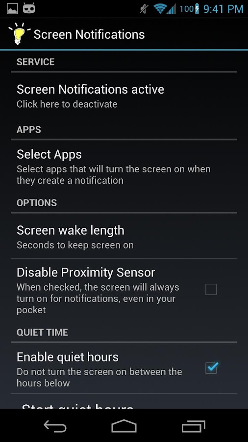 Screen Notifications - screenshot