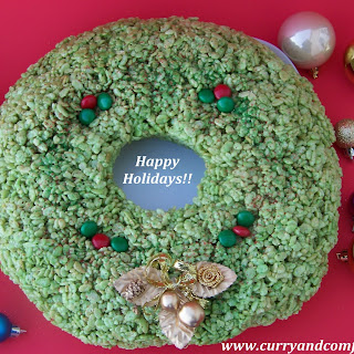 Rice Krispie Christmas Wreath