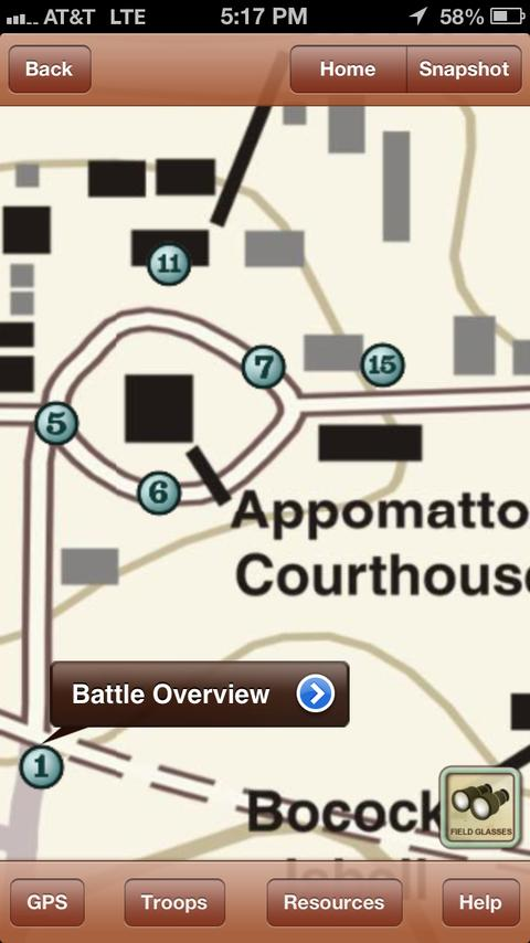Appomattox Battle App- screenshot