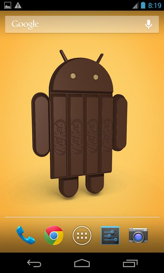 Android KitKat 3D- screenshot