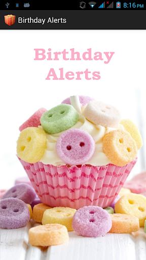 Birthday Alerts