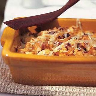 Golden Onion Strata with GruyèRe and Prosciutto Recipe