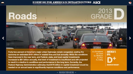 ASCE 2013 Report Card (Tablet) - screenshot thumbnail