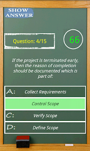 PMP exam game simulator- screenshot thumbnail