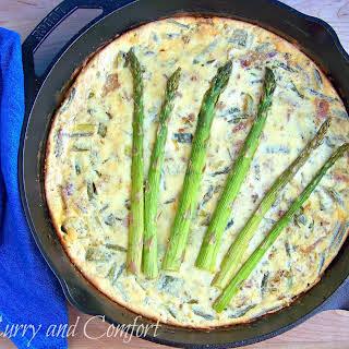 Asparagus and Leek Frittata with Bacon.