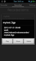 Screenshot of Voice Recorder