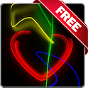 Neon love free live wallpaper logo