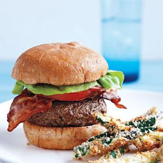 Feta-Stuffed BLT Burgers