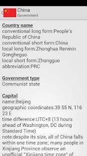 World Factbook- screenshot thumbnail
