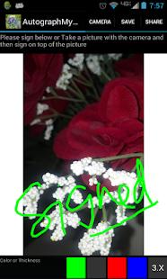 Autograph My Photo