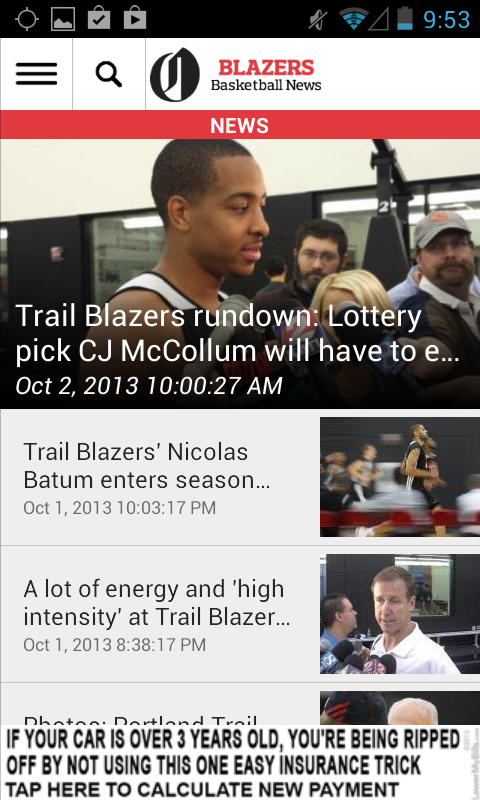 OregonLive: Blazers News - screenshot