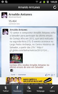 Arnaldo Antunes Noticias - screenshot thumbnail