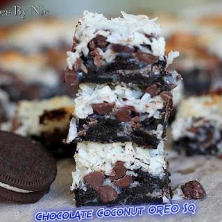 Chocolate OREO Coconut Squares