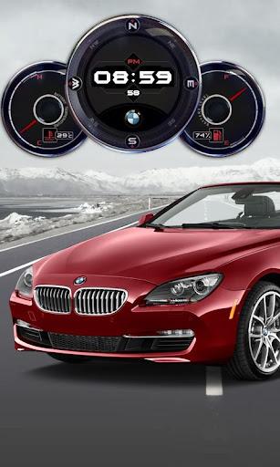 BMW i640 Compass Clock Widget