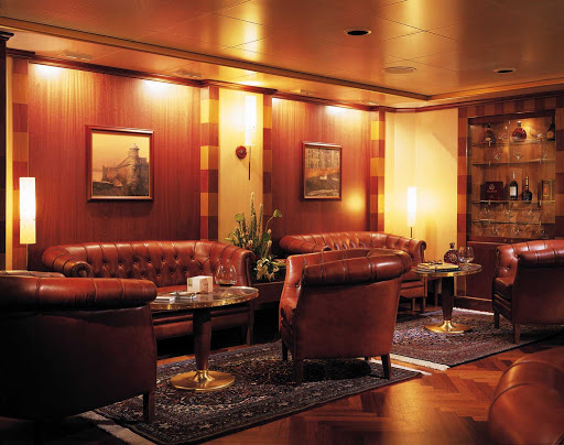 Silversea_HumidorbyDavidoffCigarLounge - If you're a cigar smoker, the Humidor by Davidoff Cigar Club on Silver Whisper is a great place to lounge.