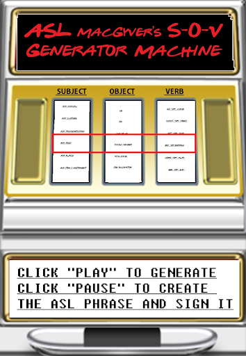 ASL SVO Generator Machine