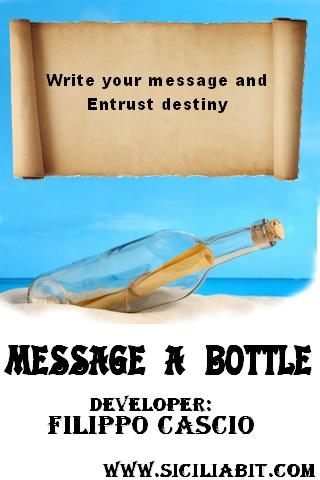 message in a bottle chat - screenshot
